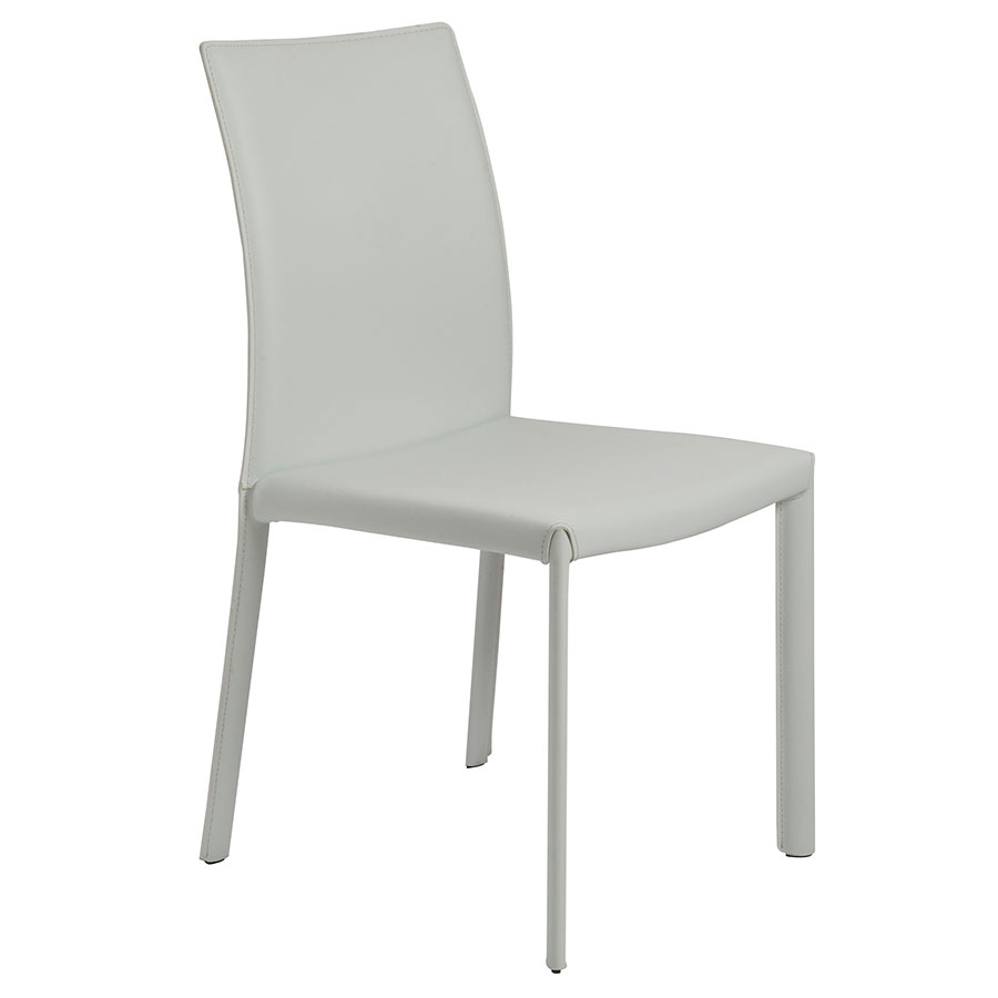 Heather Modern White Leather Dining Chair