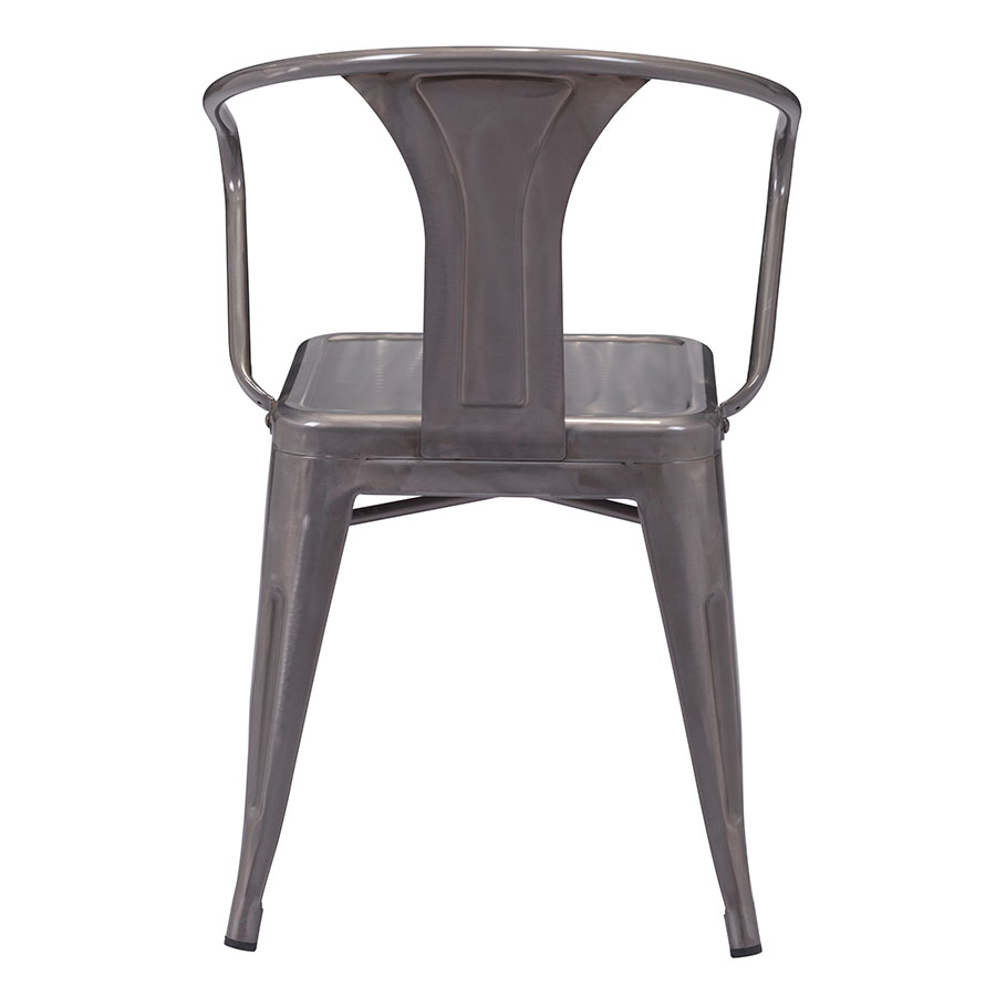 Hedwig Gun Metal Contemporary Dining Chair