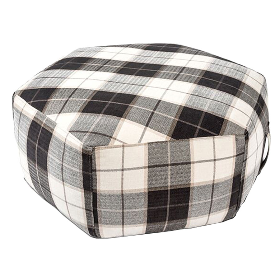 Hex Contemporary Ottoman in Tartan Shadow by Gus! Modern