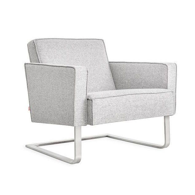 High Park Contemporary Lounge Chair in Parliament Stone by Gus* Modern