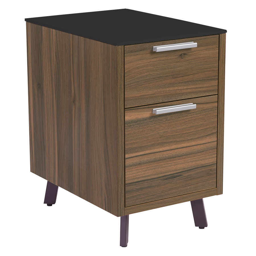 Hillard Modern File Cabinet with Black Top - Legs