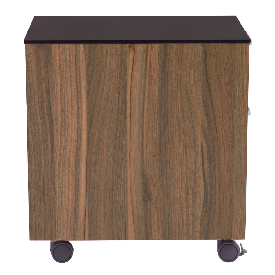 Hillard Modern File Cabinet with Black Top - Side View