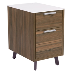 Hillard Modern File Cabinet with White Top - Legs