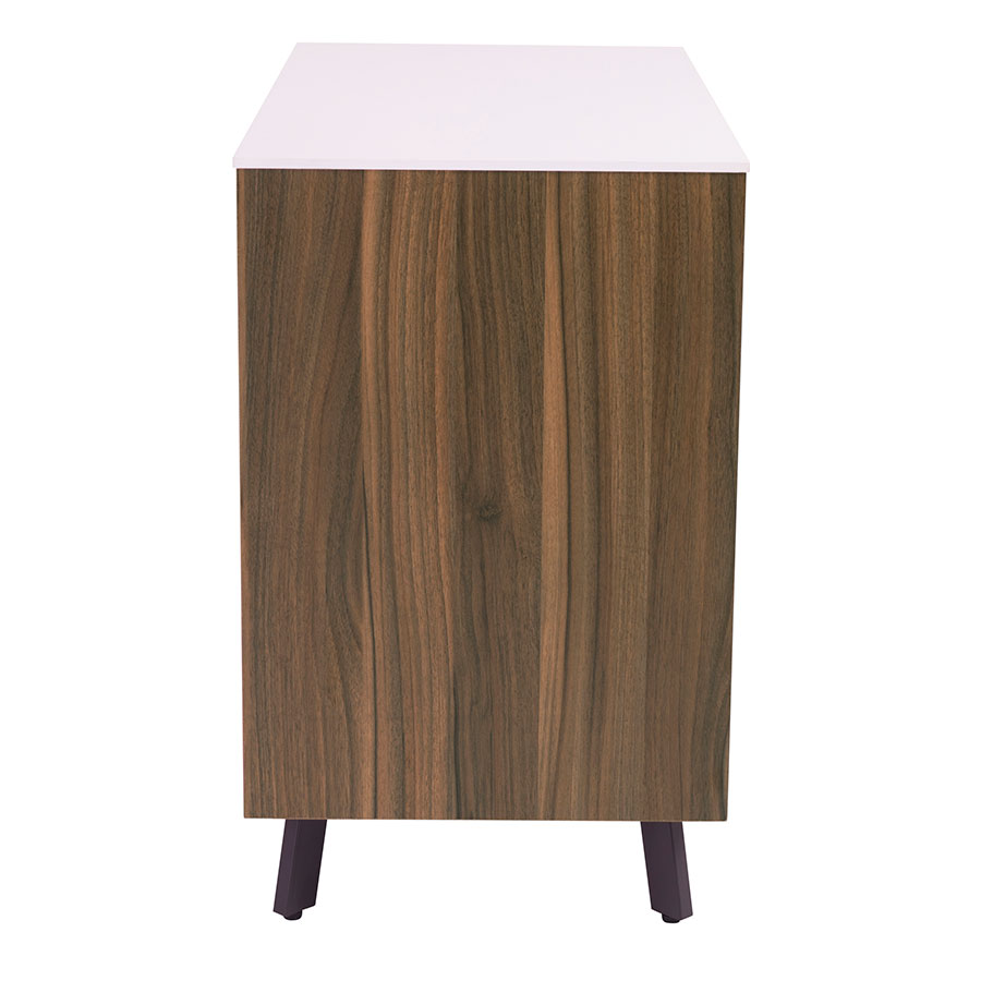 Hillard Modern Lateral File Cabinet with White Top - Side View