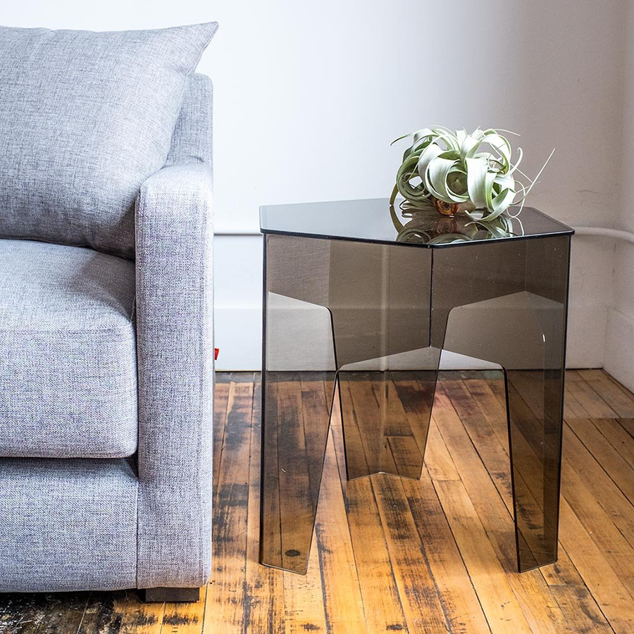 Hive Clear Modern End Table by Gus* Modern