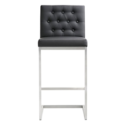 Hungary Modern Black Bar Height Stool