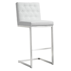 Hungary Modern White Bar Height Stool