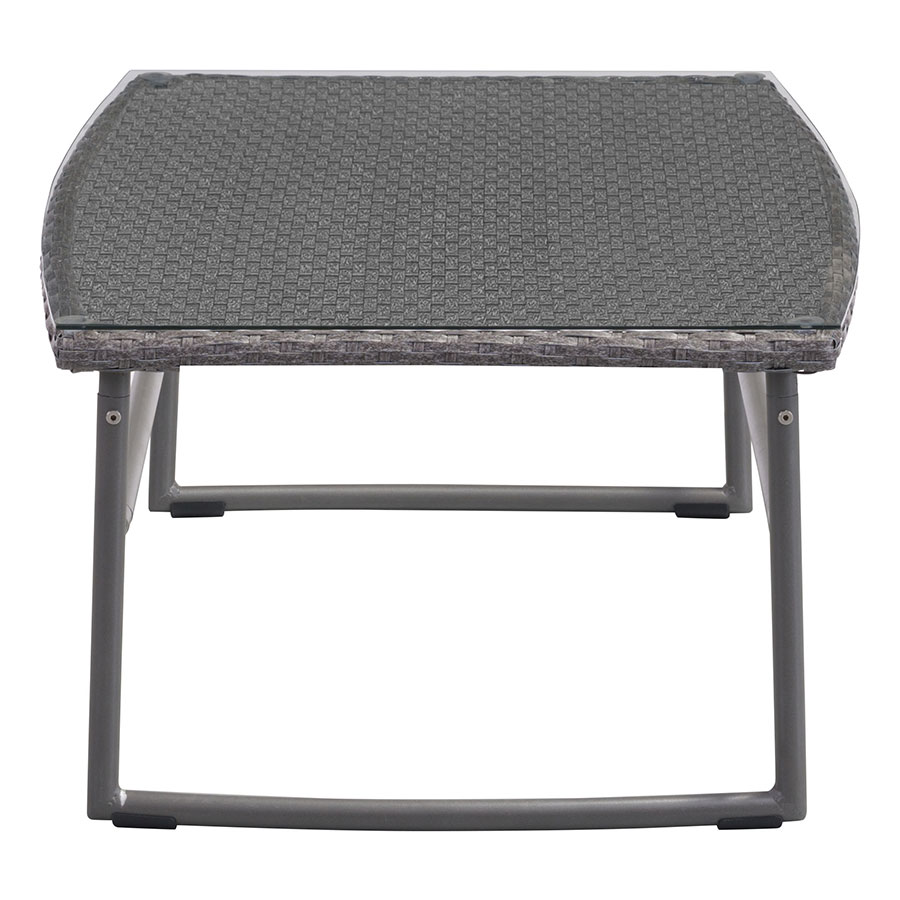 Ingrid Gray Modern Outdoor Coffee Table
