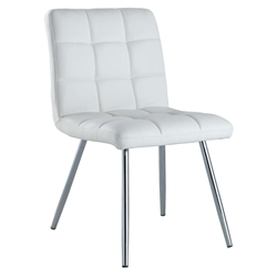 Iowa White Modern Dining Chair