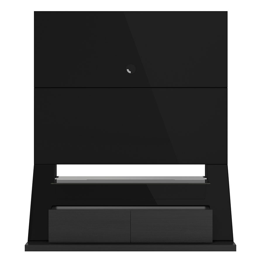 Ipswich Modern Black Entertainment Center