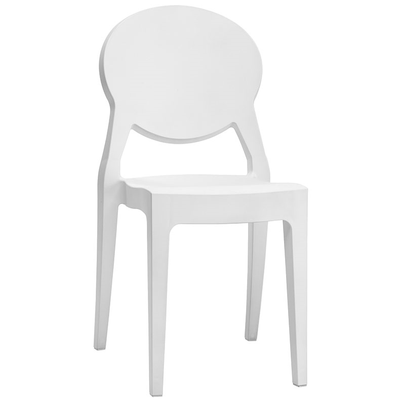 Irwin White Modern Side Chair