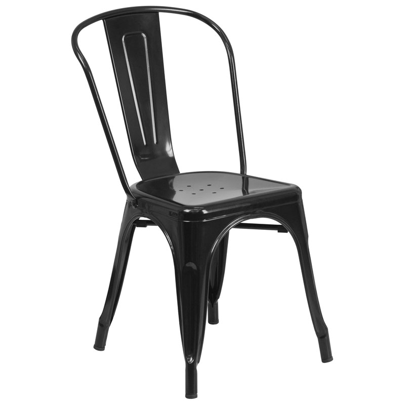 Isabella Modern Bistro Chair in Black