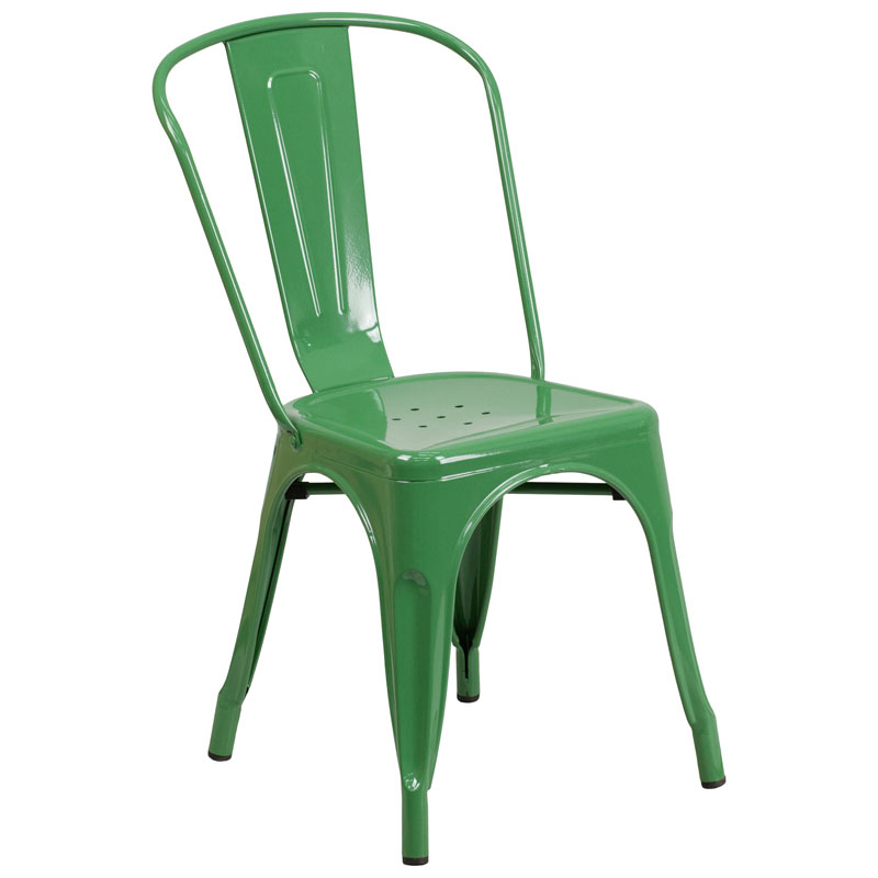 Isabella Modern Bistro Chair in Green