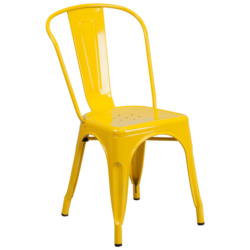 Isabella Modern Bistro Chair in Yellow