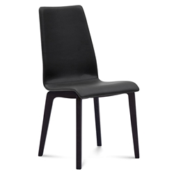 Jake Anthracite + Black Modern Dining Chair