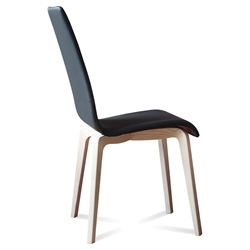 Jake Ash + Black Modern Side Chair