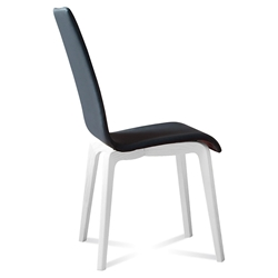 Jake White + Black Modern Side Chair