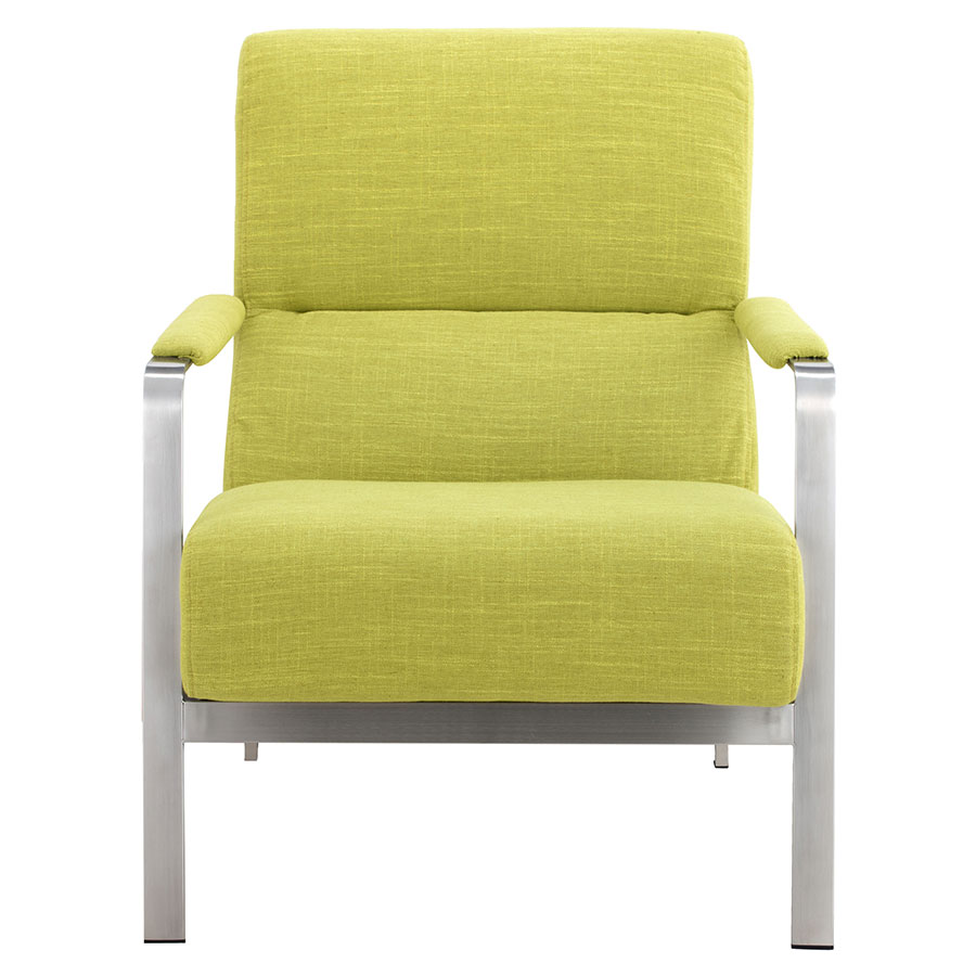 Jamal Lime Modern Fabric Lounge Chair