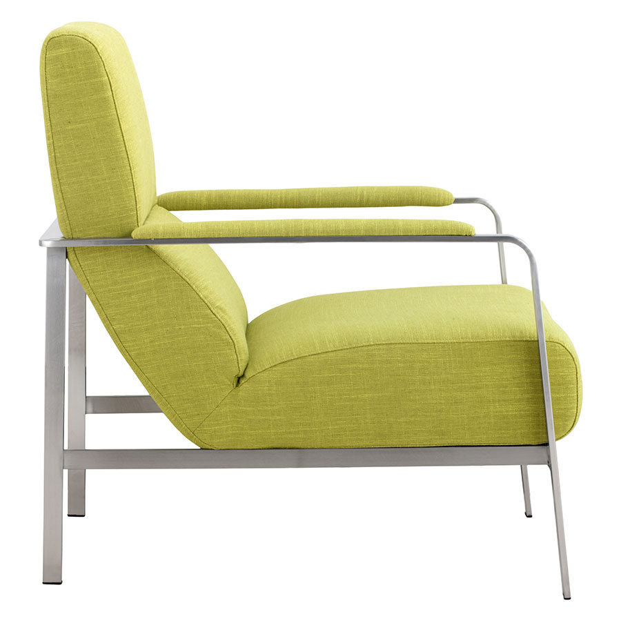 Jamal Lime Modern Arm Chair