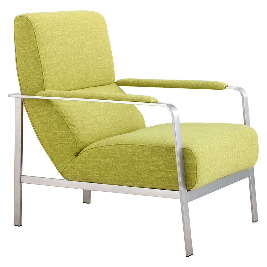 Jamal Lime Modern Lounge Chair