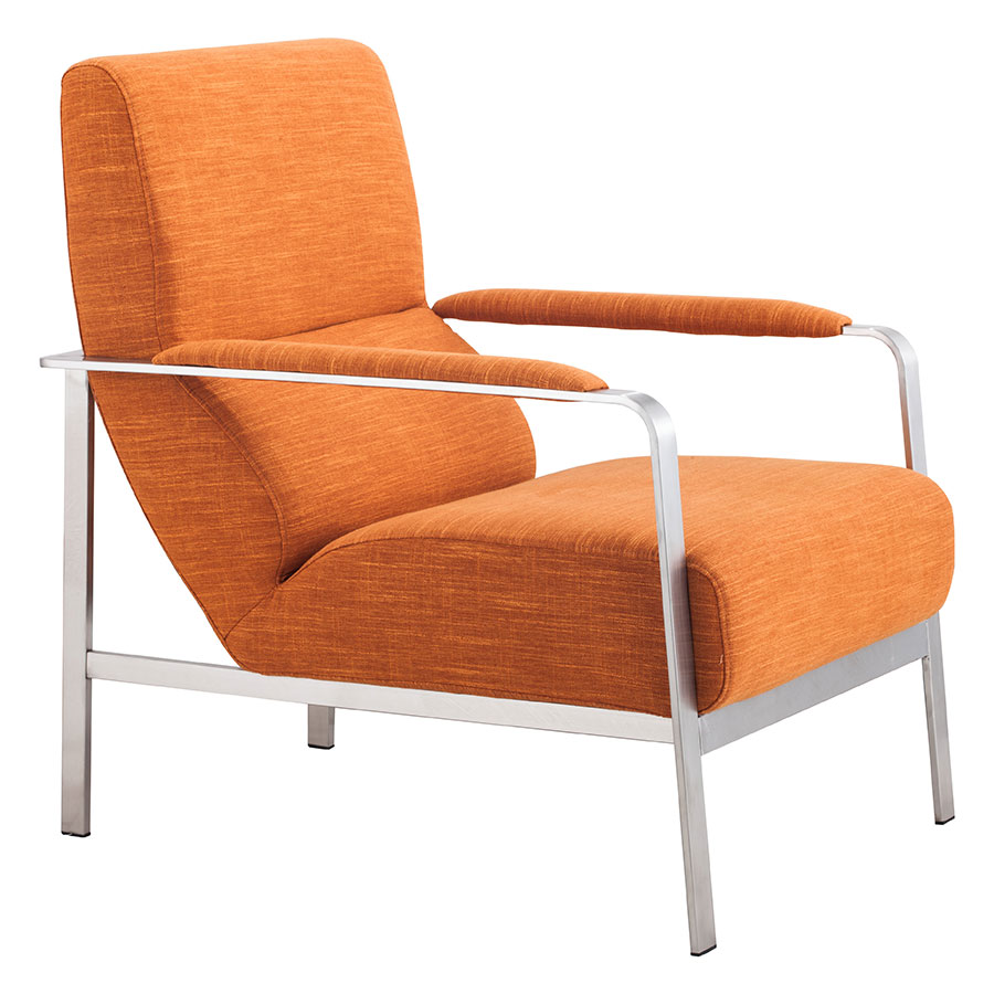 Jamal Orange Modern Lounge Chair