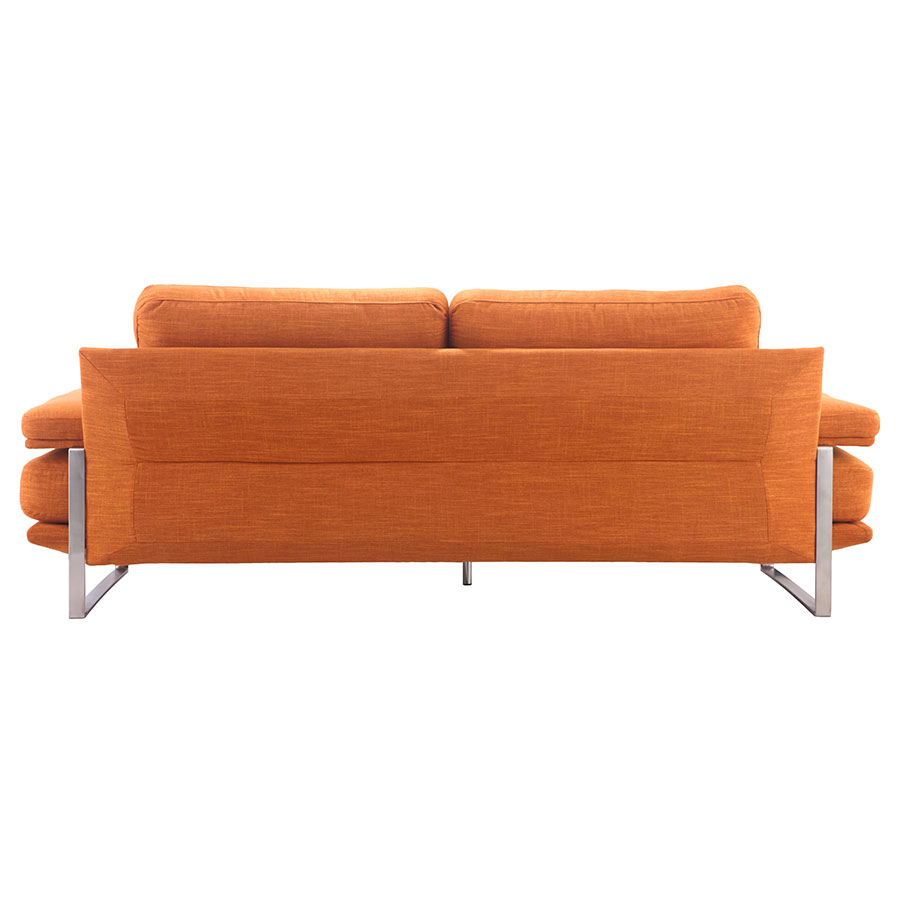 Jamal Orange Fabric Contemporary Sofa