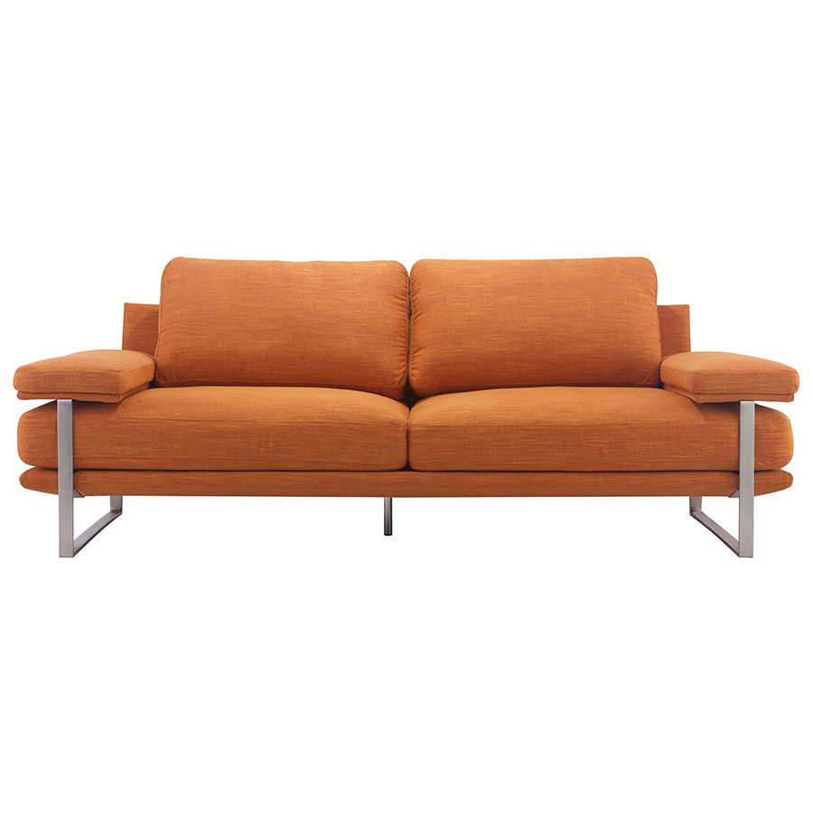 Jamal Orange Contemporary Sofa