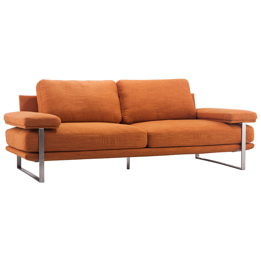 Jamal Orange Modern Sofa