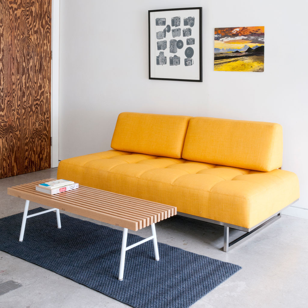 James Contemporary Sleeper Sofa in Laurentian Citrine - Lifestyle