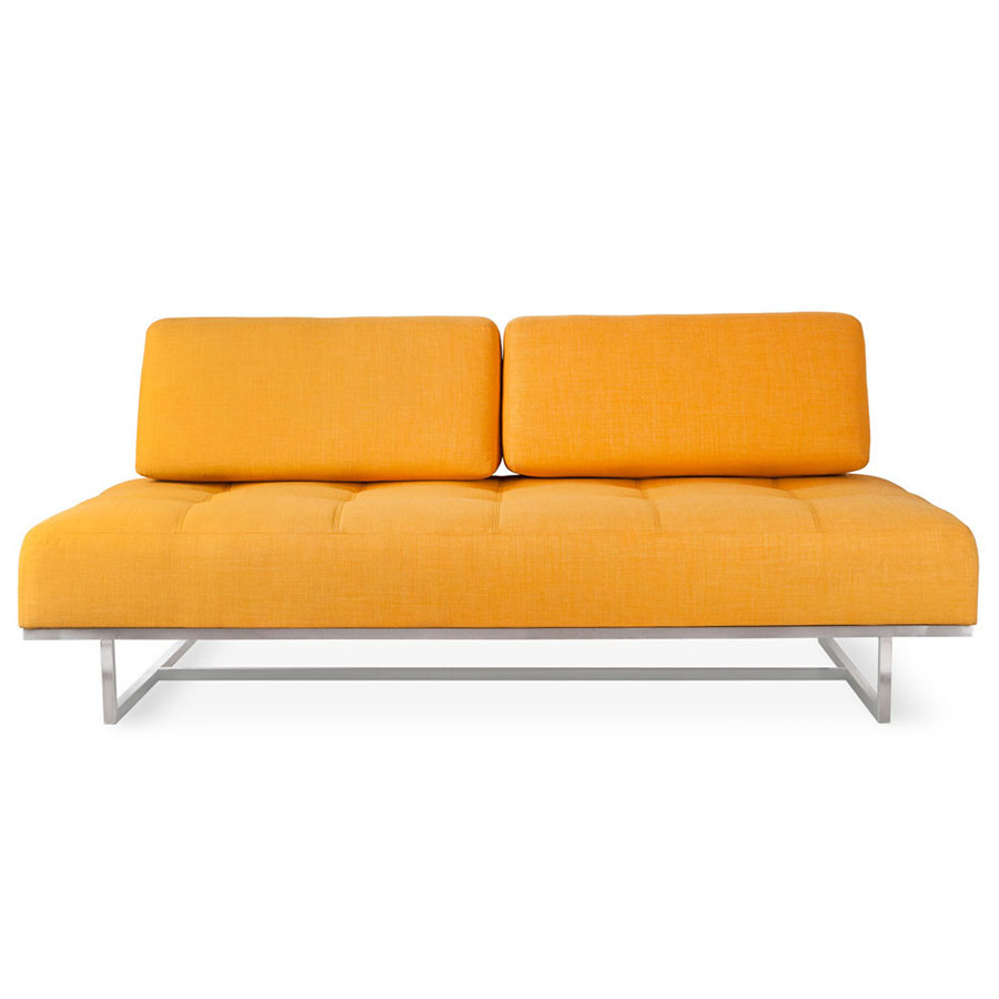 James Contemporary Sleeper Sofa in Laurentian Citrine