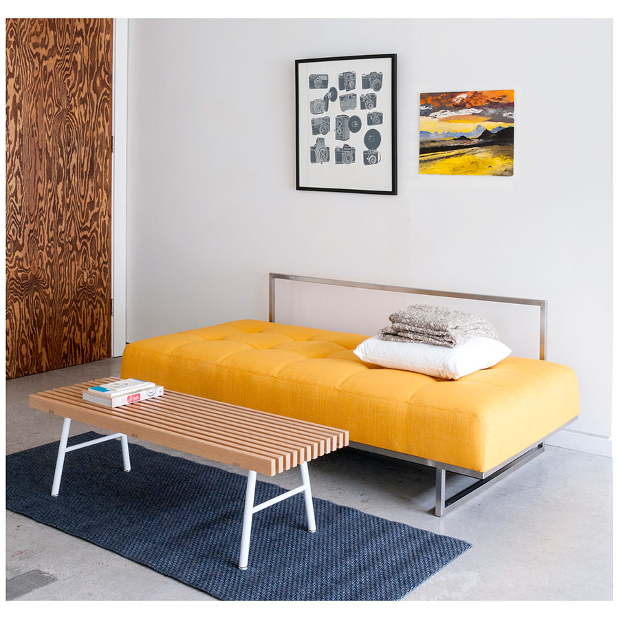 James Modern Sleeper Sofa in Laurentian Citrine