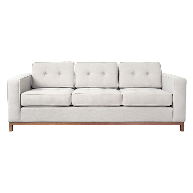 Jane Contemporary Walnut Base Sofa in Oxford Quartz by Gus! Modern