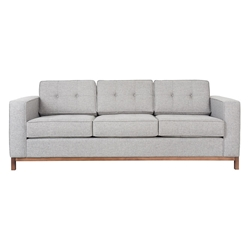 Jane Contemporary Walnut Base Sofa in Parliament Stone by Gus* Modern