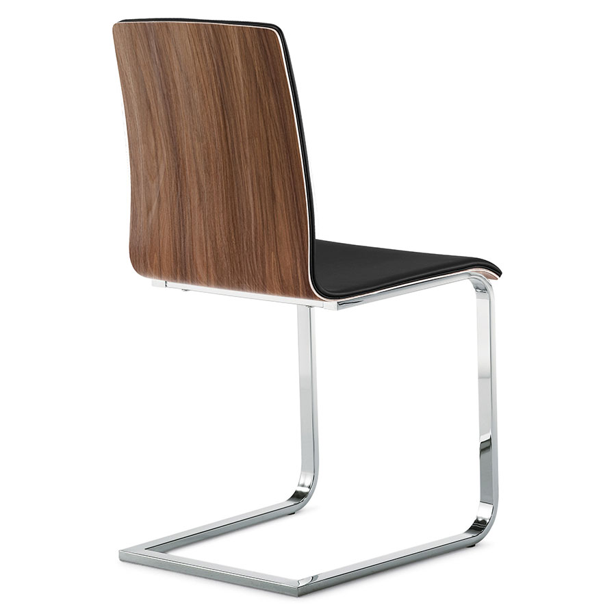 Jasmine Chrome + Chocolate + Black Modern Side Chair
