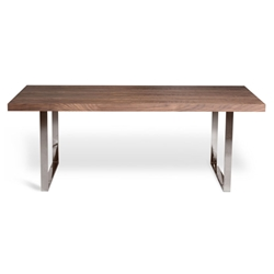 Jennings 78 Inch Modern Walnut Dining Table