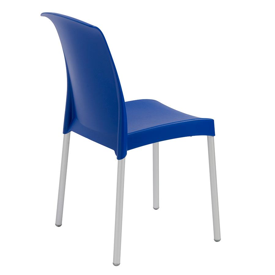 Jenny Blue Polypropylene Contemporary Stacking Chair