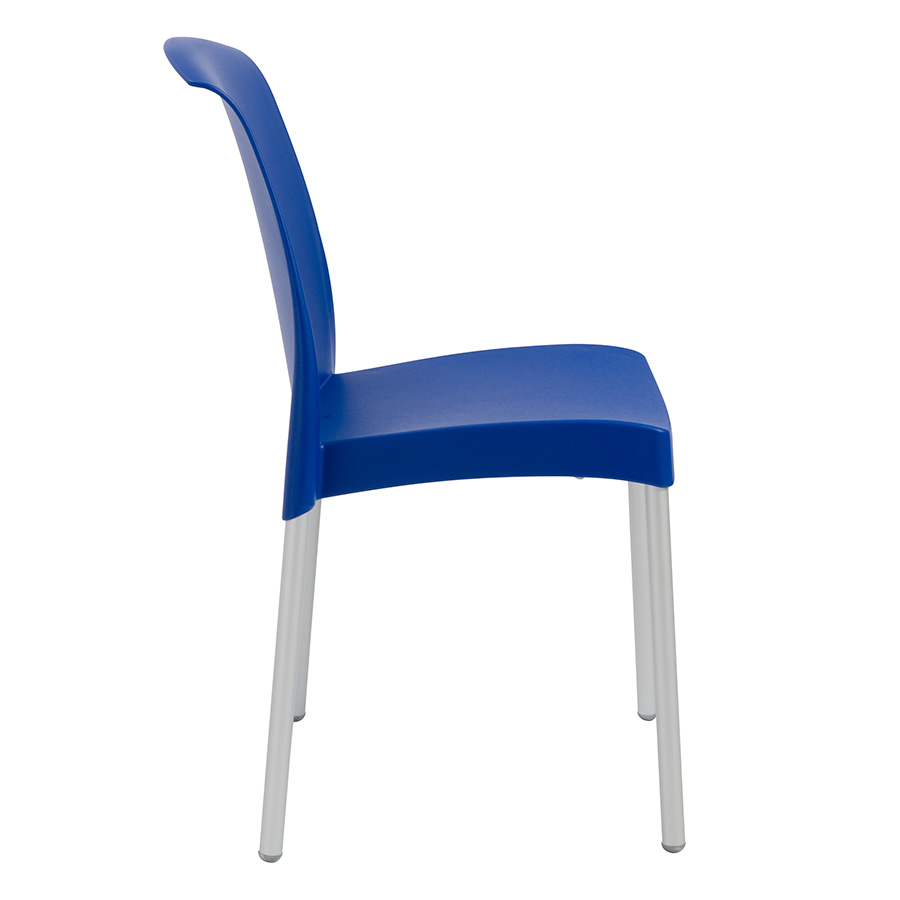 Jenny Blue Polypropylene Modern Stacking Chair