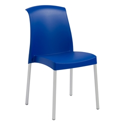 Jenny Blue Modern Stacking Chair