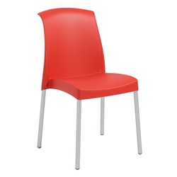 Jenny Red Modern Stacking Chair