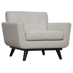 Jerome Beige Linen Contemporary European Modern Arm Chair