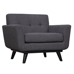 Jerome Gray Linen Modern European Arm Chair