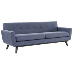 Jerome Blue Linen Contemporary European Modern Sofa