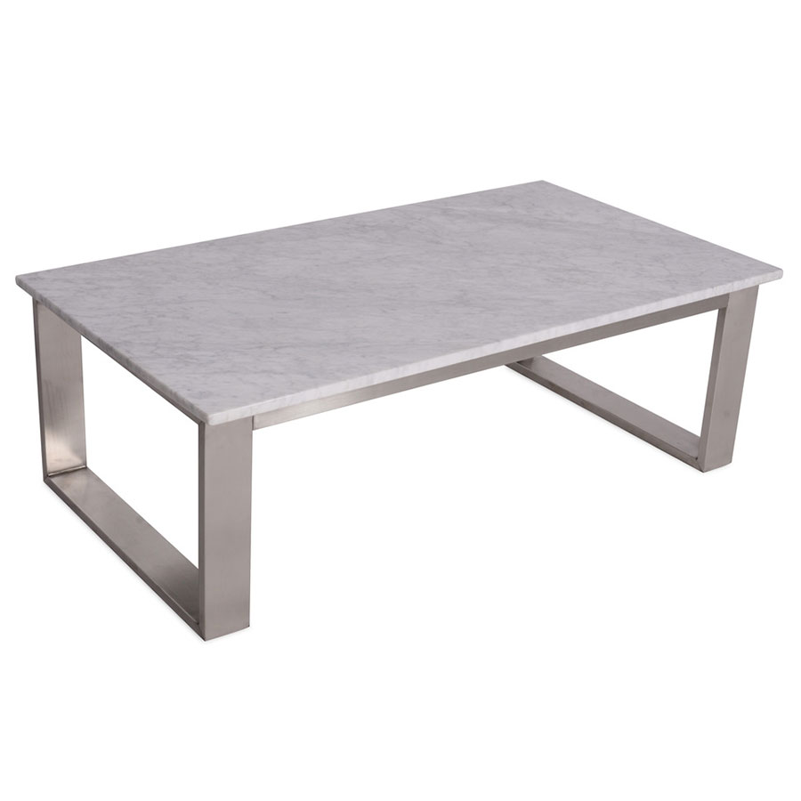 Joseph Modern White Marble Cocktail Table