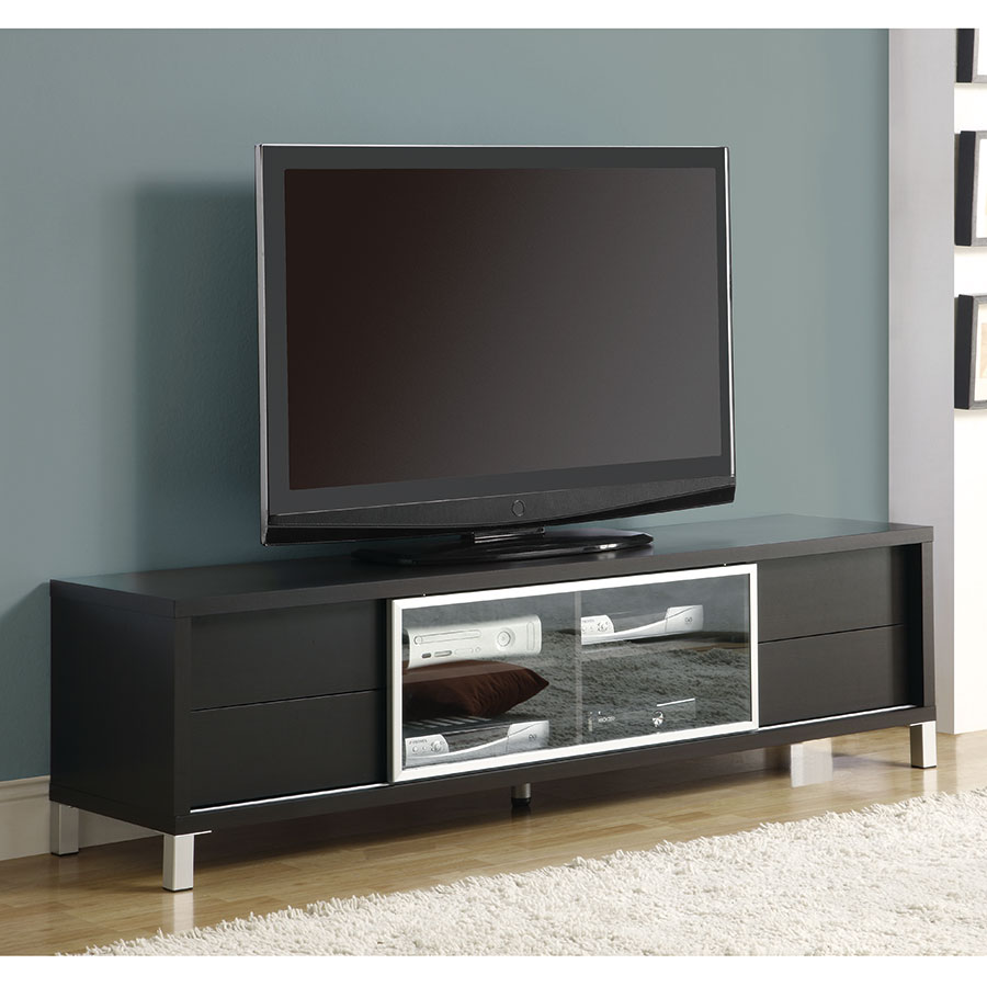 Josh Contemporary Cappuccino TV Stand w/ Storage Drawers