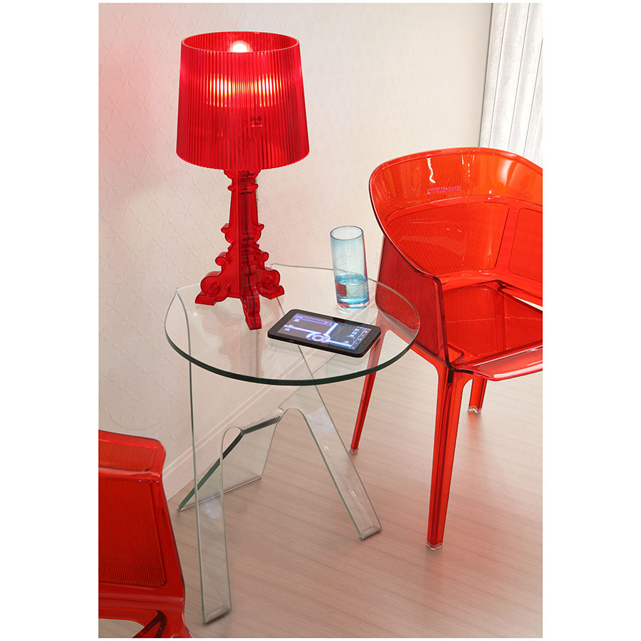Journey Modern Glass End Table