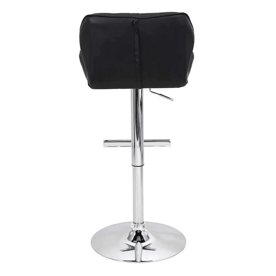 Joy Black + Chrome Contemporary Adjustable Stool