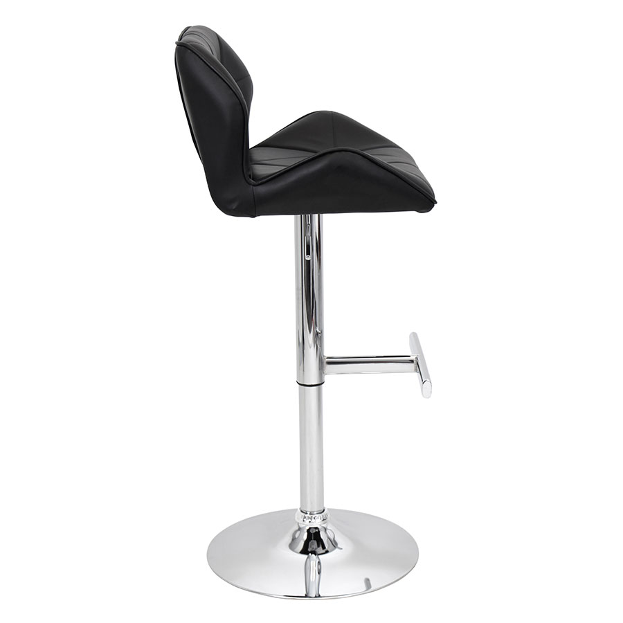 Joy Black Contemporary Adjustable Stool