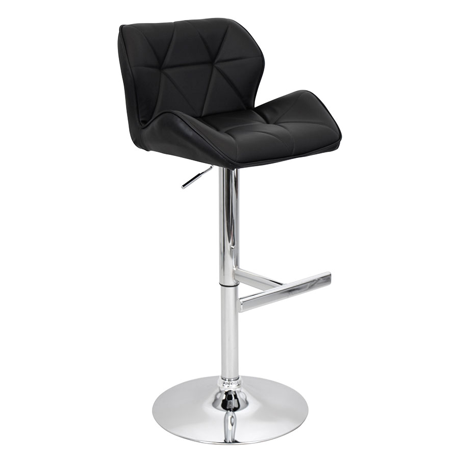 Joy Black Modern Adjustable Stool