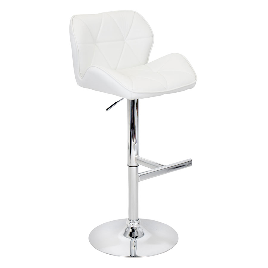 Joy White Modern Adjustable Stool