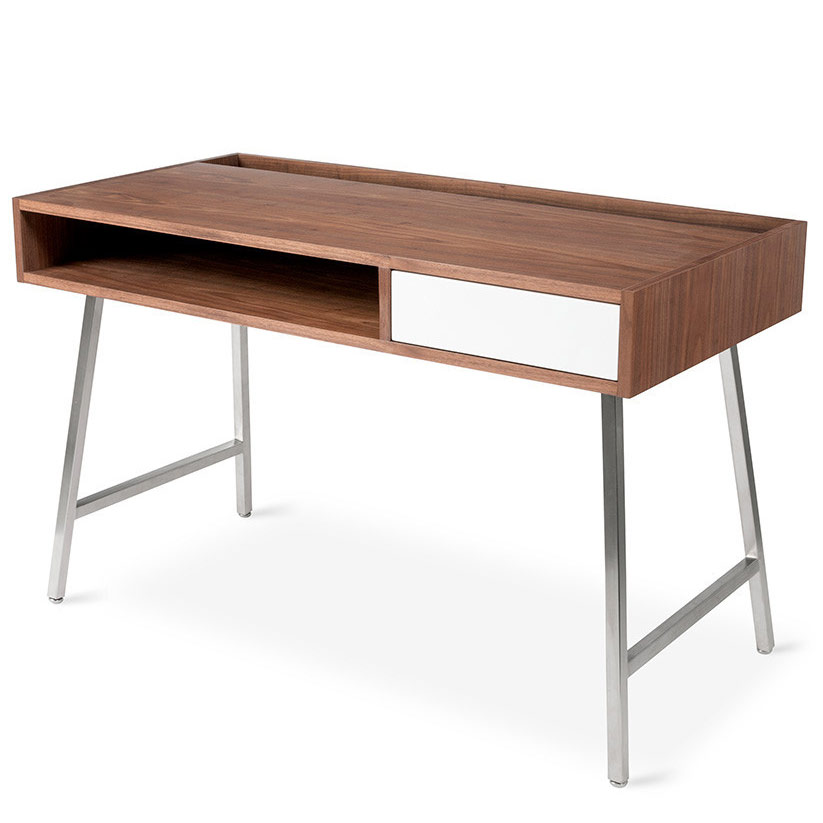 Junction Contemporary Desk in Walnut by Gus Modern